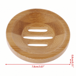 Round bamboo storage tray for shampoo and conditioning bars