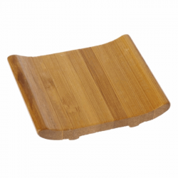 Natural hand made bamboo soap tray